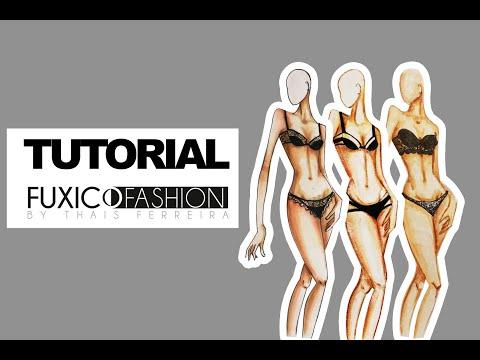 Desenhando Moda - Colorindo Pele 3 Materiais - By Fuxico Fashion