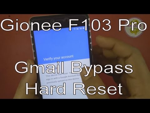 Gionee F103 Pro Gmail FRP Bypass With Hard Reset