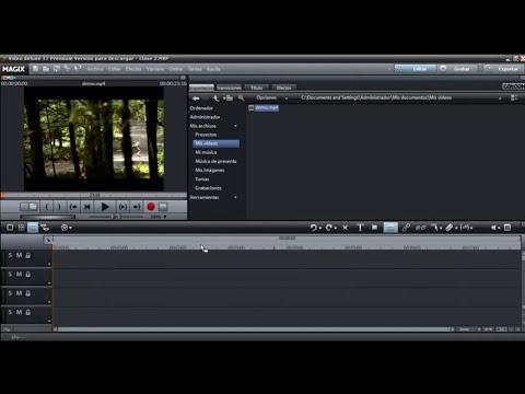 Magix Video Deluxe (Lección 2)