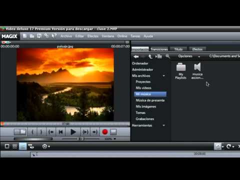 Magix Video Deluxe (Lección 2)