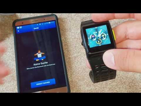 Smart Watch P1 Fitness Activity Tracker 24/7 Herzfrequenz IP68 Wasserdicht Bluetooth GPS Iwownfit