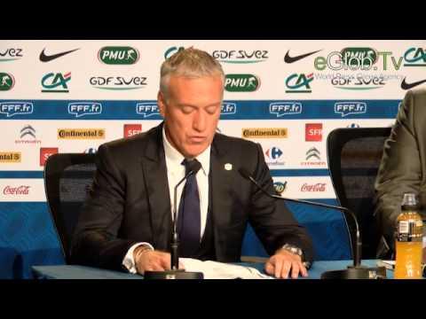 Conférence de presse de Didier Deschamps sélectionneur du mondial 2014