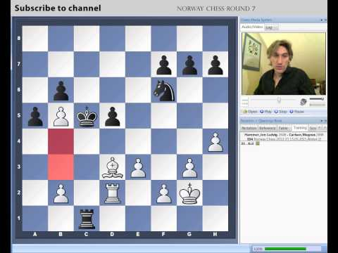 Norway Chess 2013 Round 7 Karjakin vs Nakamura and Hammer vs Carlsen