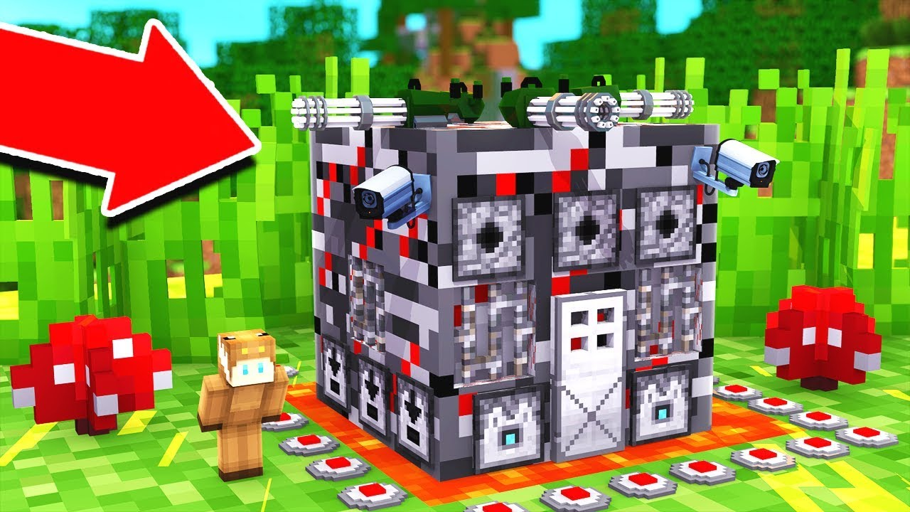 HOW TO LIVE INSIDE WORLD'S MOST PROTECTED BASE IN MINECRAFT!
