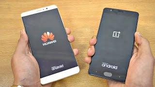 Huawei Mate 9 vs OnePlus 3T - Speed Test! (4K)
