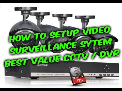 How to setup video surveillance CCTV DVR system guide. Annke 8ch camera DVR review