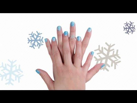 Winter Wonderland Nail Art Tutorial - YouTube