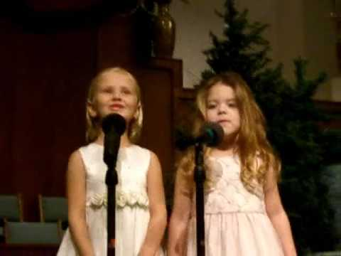 Mikayla and Rachel singing When Christmas Comes to Town Polar Express 2006