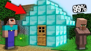 Minecraft NOOB vs PRO : 99% VILLAGERS CANT BOUGHT DIAMOND HOUSE IN VILLAGE! Challenge 100% trolling