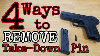 Ruger Security-9: 4 Ways to Remove the Take-Down Pin