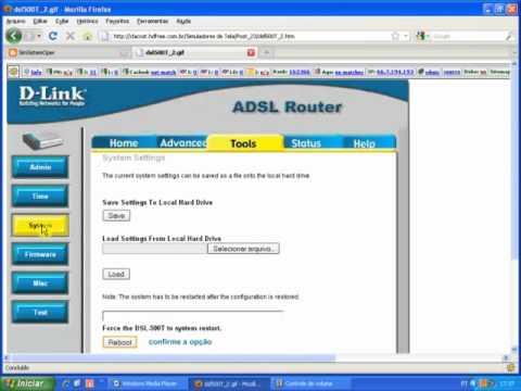 Como Rotear um modem DSL-500T