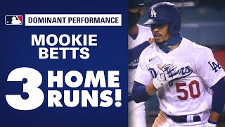 Mookie Betts goes deep THREE times! Dodgers' slugger smacks 3 out in first 3 at-bats!