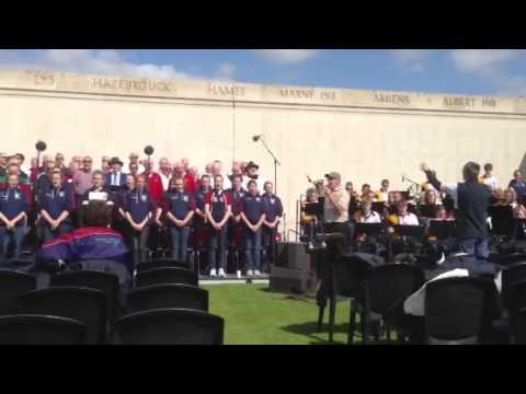 French National Anthem ANZAC DAY rehearsals.... Sung by Aus