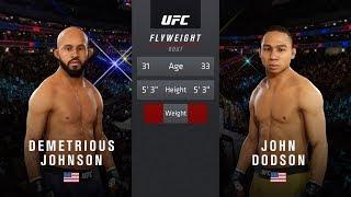 Demetrious Johnson Vs John Dodson : Ea Sports UFC 3 Legendary Fights :