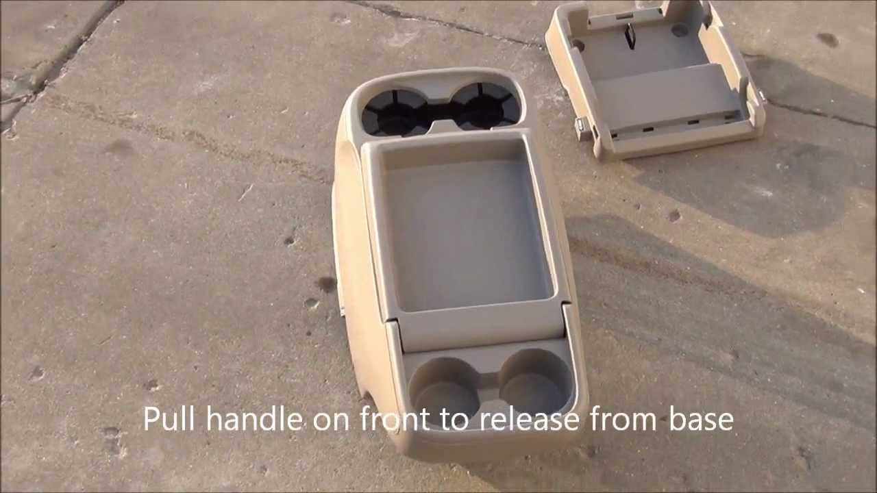 2011 Tan Honda Odyssey Center Console Drink Tray Youtube