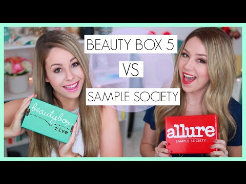 Unboxing: Beauty Box 5 Vs Sample Society - March + Announcement!! video