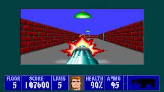 [MS-DOS] Wolfenstein 3D - Floor 5 (Episode II)
