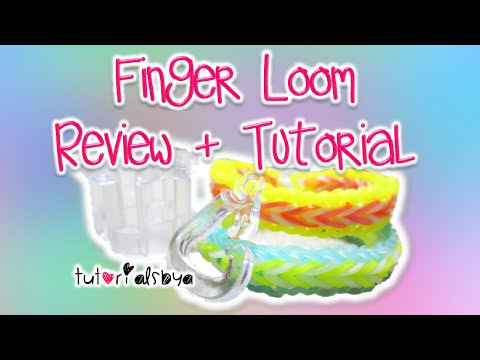 NEW Finger Loom Review + Tutorial   Fishtail & Single Border   Rainbow Loom
