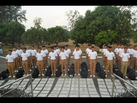 Philippine Merchant Marine Academy Probationary Midshipmen Class of 2019 Proceeding to Evening Chow