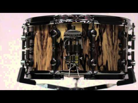 Sonor Oak White Ebony Hc Snare Drum video