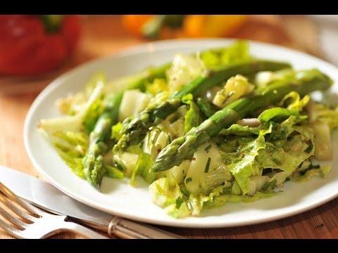 Ensalada de esparragos y pepinos - Asparragus cucumber salad - Recetas de ensaladas