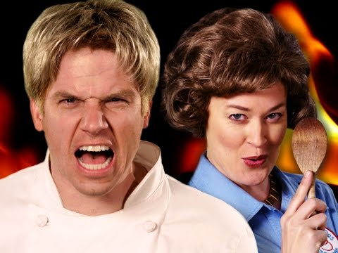 Gordon Ramsay vs Julia Child.  Epic Rap Battles of History - Season 5