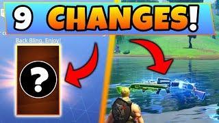 Fortnite Update: 9 SECRET CHANGES! – NEW Back Bling & ROCKET LAUNCH (Battle Royale Playground Patch)