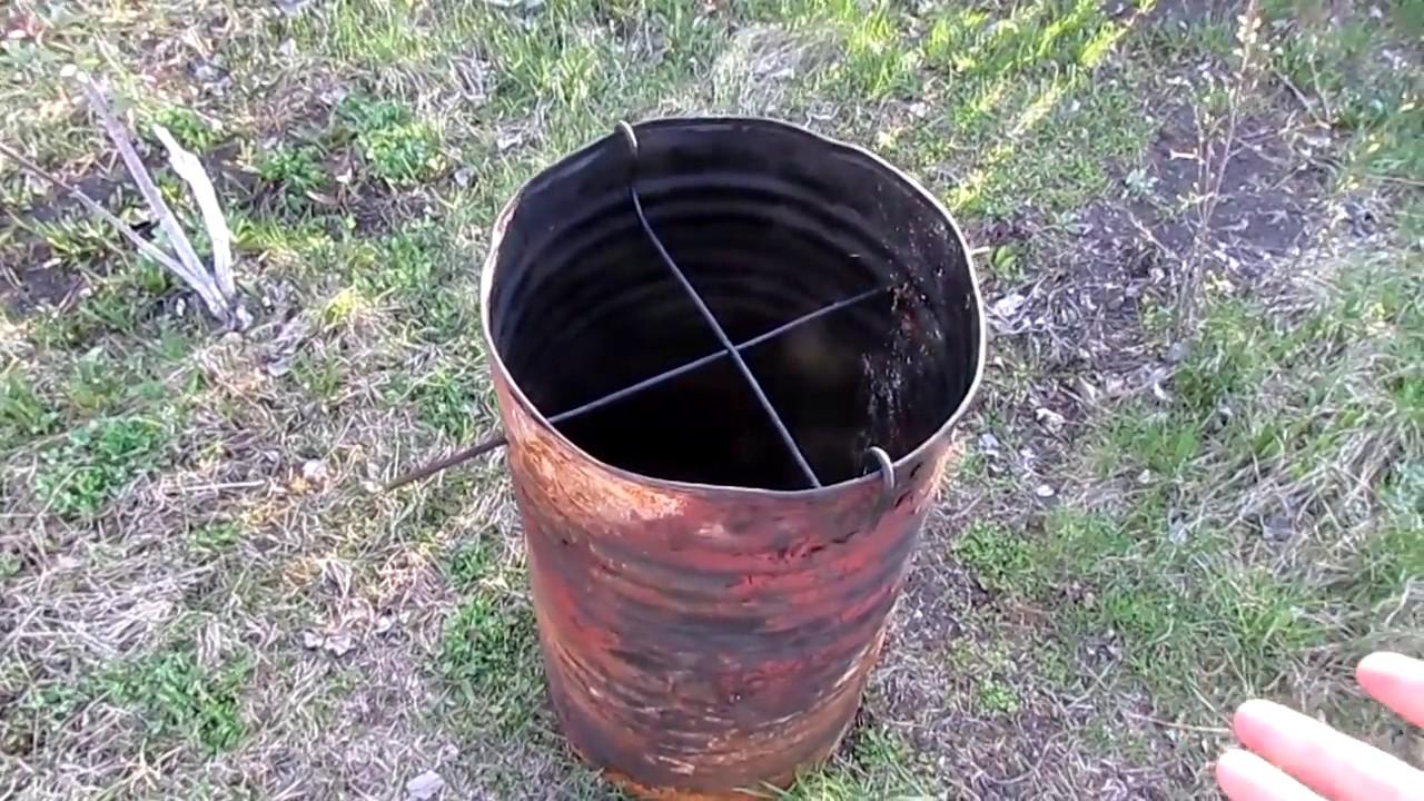 Как из бочки сделать коптильню на даче