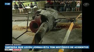 Helicóptero que levou Boechat teria usado peças usadas