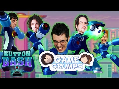 MEGA MAN X SPEED RUN WITH GAME GRUMPS (Smosh Games Button Bash)