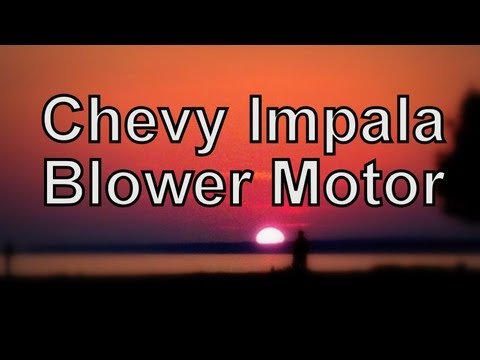 02 Chevy Impala Blower Motor Resistor - How To