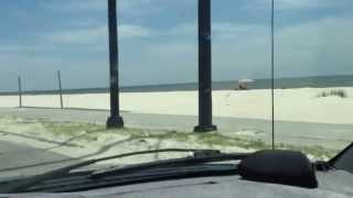 Gulfport Beach in Mississippi