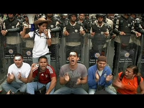 Students protest in Venezuela - no comment