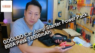 GOOLOO Car Jump Starter Power Pack 800A Peak 18000mAh