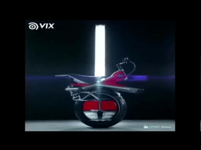 Curiosidades Papo de Graça: Moto elétrica com uma roda.