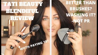 NEW TATI BEAUTY BLENDIFUL REVIEW | TATI BLENDIFUL/PUFF DEMO/REVIEW | WASHING IT| BETTER THAN BRUSHES