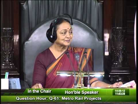 Question Hour Q-61: Metro Rail Projects: Sh. Harin Pathak: 14.08.2012