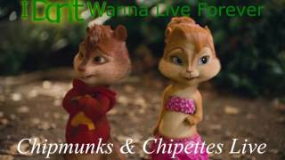 ZAYN & Taylor Swift - I Don't Wanna Live Forever (Chipmunks & Chipettes Cover)