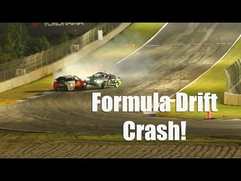 Formula Drift Crash - Vaughn Gittin Jr. vs Fredric Aasb - Road Atlant