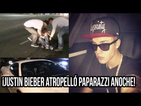 ¡Justin Bieber Atropelló Paparazzi Anoche!