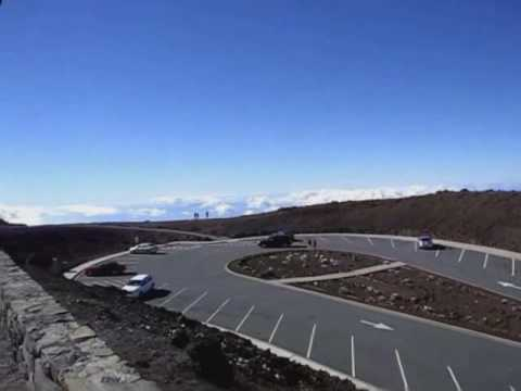 A beautiful day driving up Mount Haleakala, Maui, Hawaii
