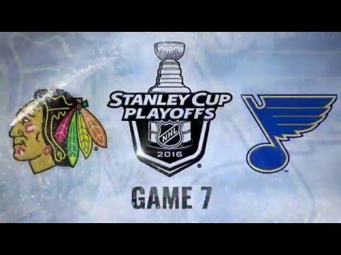 Chicago Blackhawks vs St. Louis Blues. Game #7. PlayOffs NHL 2016