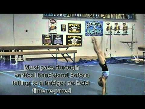USAG Level 4 Floor Routine Tutorial
