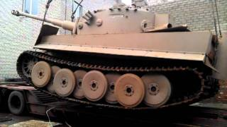 Tiger tank replica-transportation-by maketoff.net