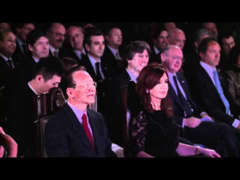 Detrás de cámara. Visita oficial  de Wen Jiabao a la Argentina