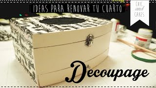 DIY: Ideas para decorar el cuarto #1 - Joyero con Decoupage