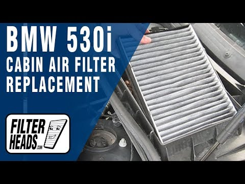 Cabin air filter replacement- BMW 530i