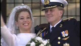 The Prince of Orange and Princess Máximas Wedding Carriage Ride and Balcony Scene