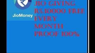 JIO MONEY APP GIVING FREE 10000RS.Hack Hindi