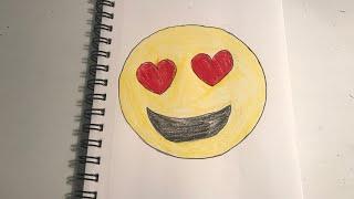 Heart Eyed Emoji   Speed Art